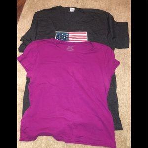 Tops - Pink Short Sleeve XL Faded Glory Shirt Women's